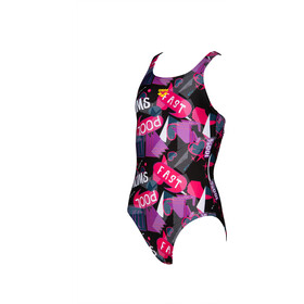 arena Dancing Swim Pro One Piece Swimsuit Meisjes, black/multi